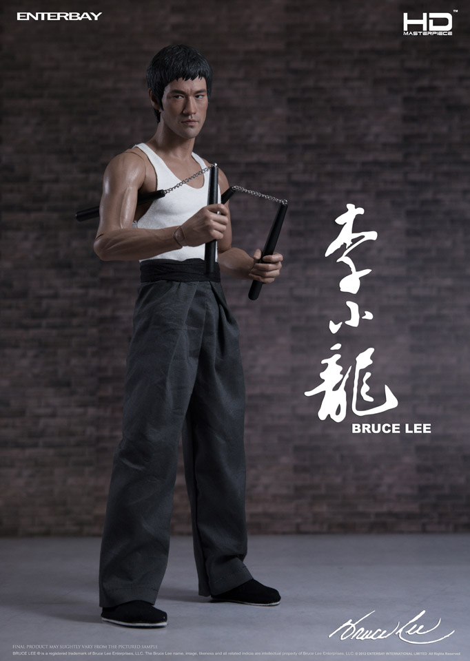 1//6 Scale White Grey Robe Martial Outfit For 12/'/' Enterbay Bruce Lee Figures