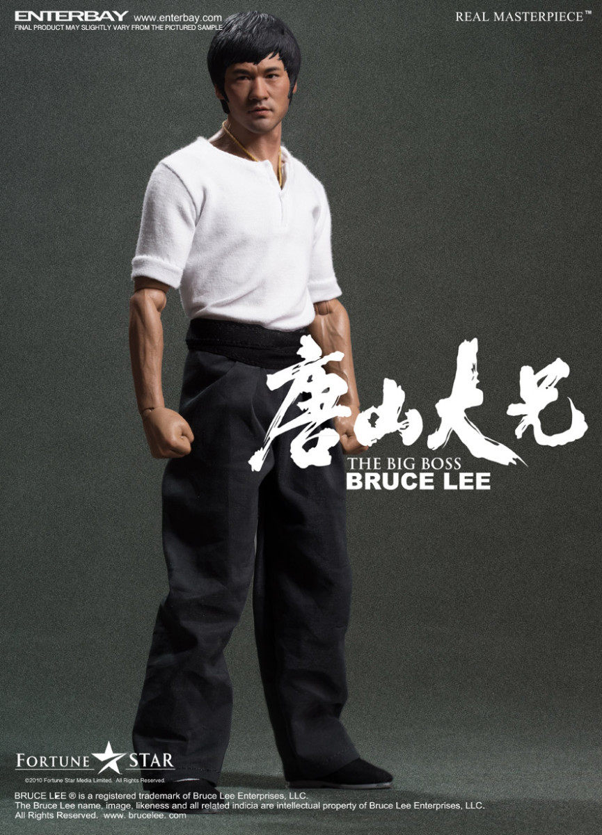"BRUCE LEE: the BIG BOSS REAL MASTERPIECE 1/6 Action Figure 12"" ENTERBAY"