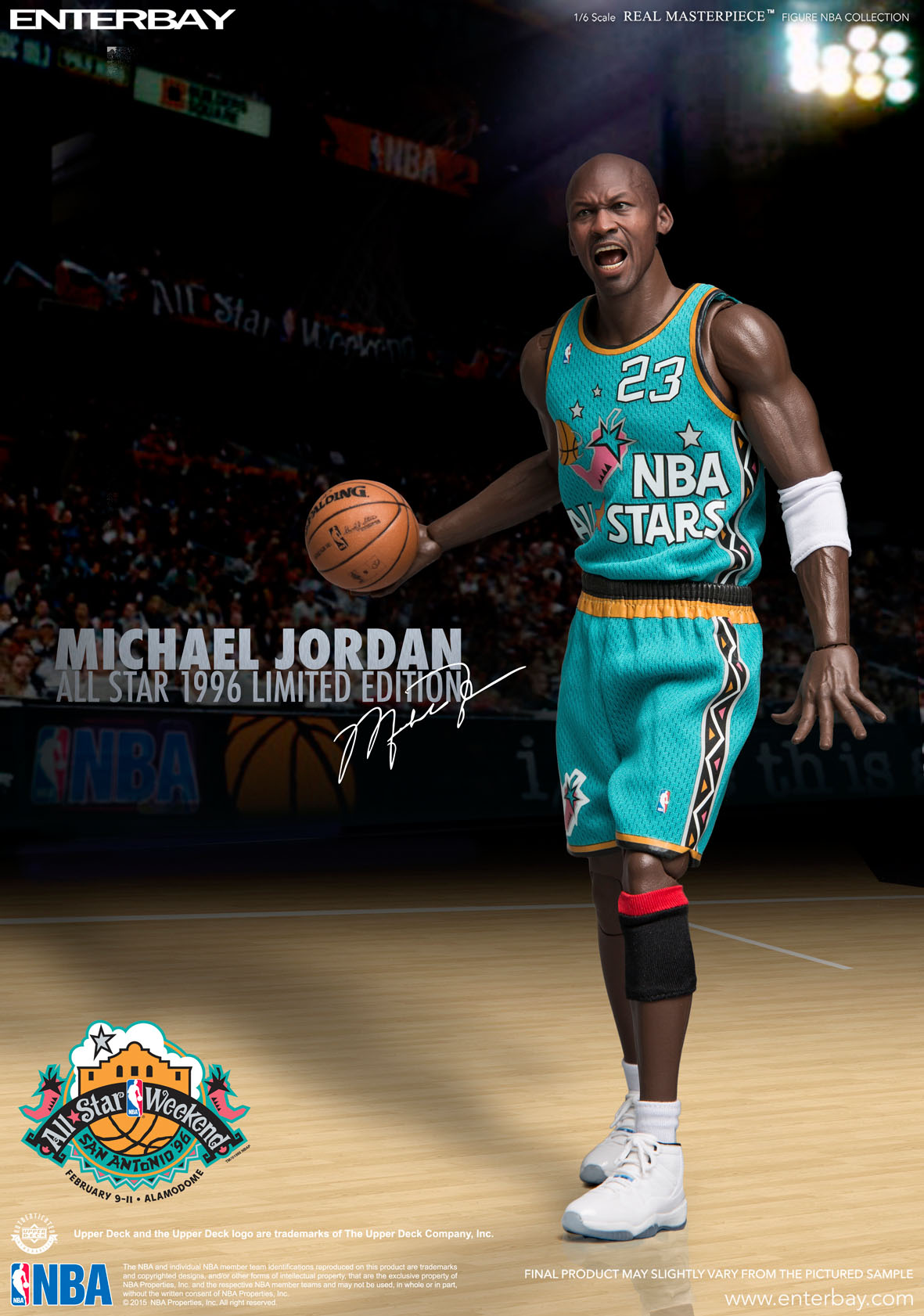 f71f6e10564d63 NBA COLLECTION  MICHAEL JORDAN ( ALL STAR 1996 ) REAL MASTERPIECE 1 6  Action Figure ...