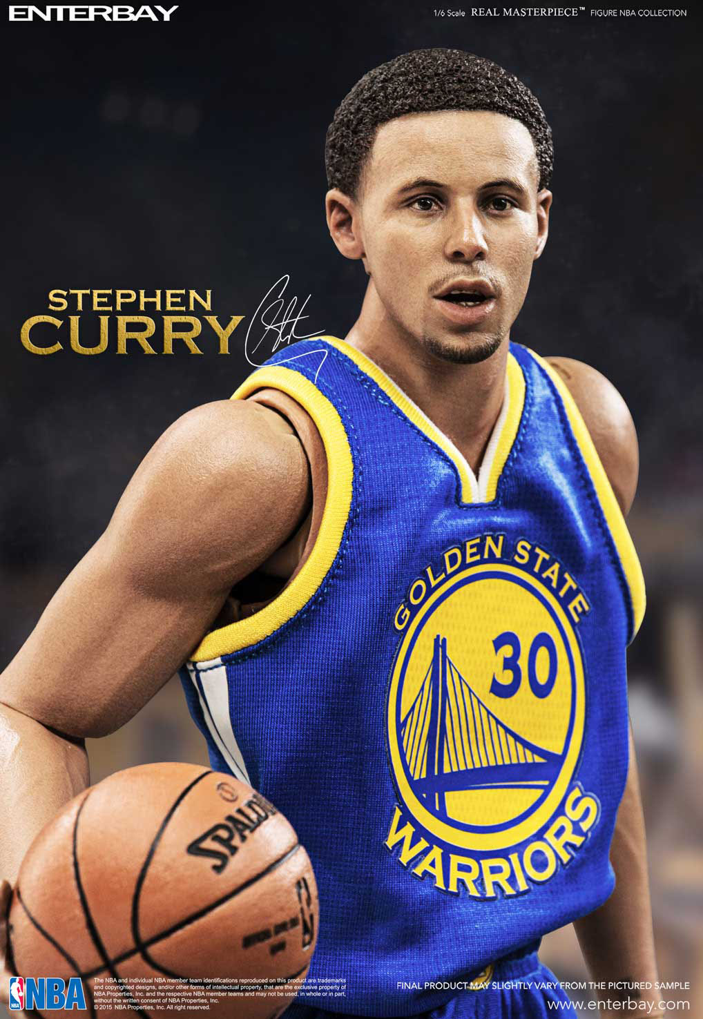 489d9167d879 NBA COLLECTION  STEPHEN CURRY REAL MASTERPIECE 1 6 Action Figure 12″  ENTERBAY