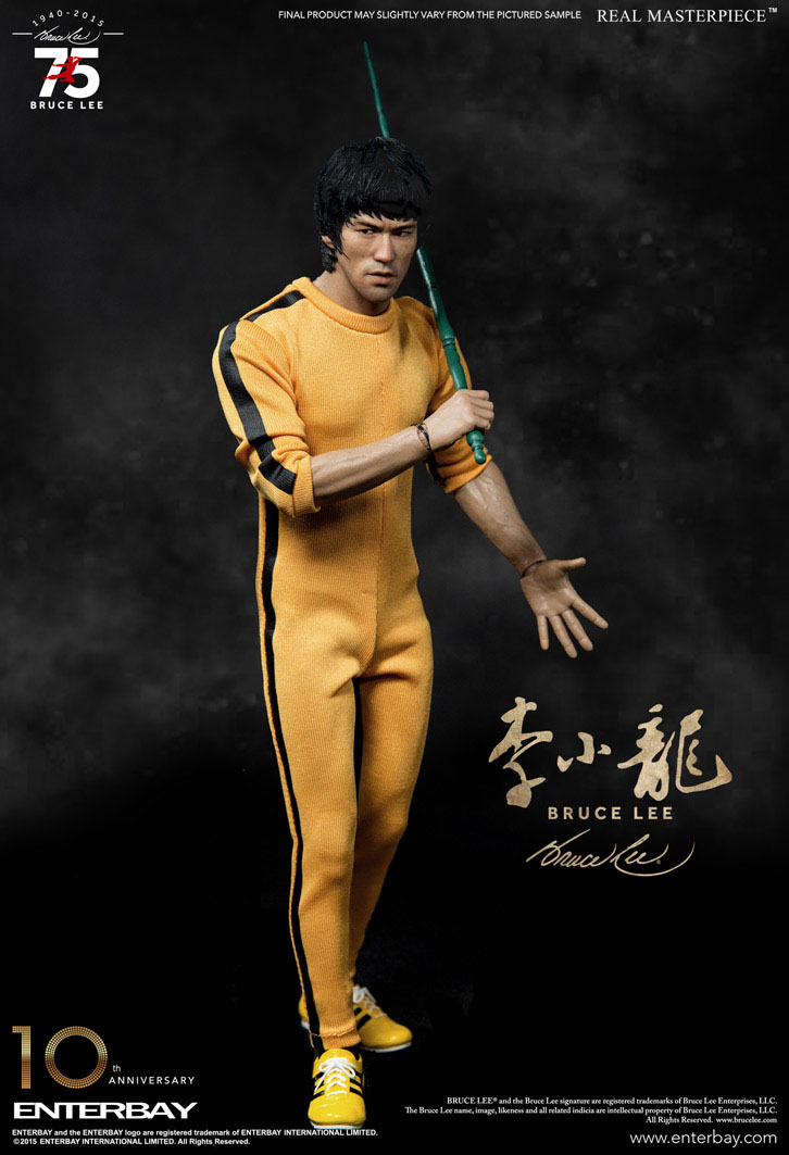 "BRUCE LEE: BRUCE LEE REAL MASTERPIECE 75th ANNIVERSARY 1/6 Action Figure 12"" ENTERBAY"