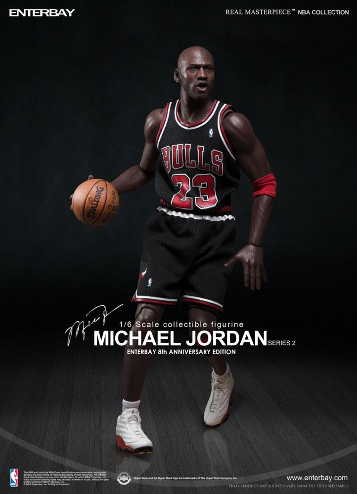 dbb0391955f7cc NBA COLLECTION  MICHAEL JORDAN – BLACK JERSEY EDITION REAL MASTERPIECE 1 6  Action Figure ...