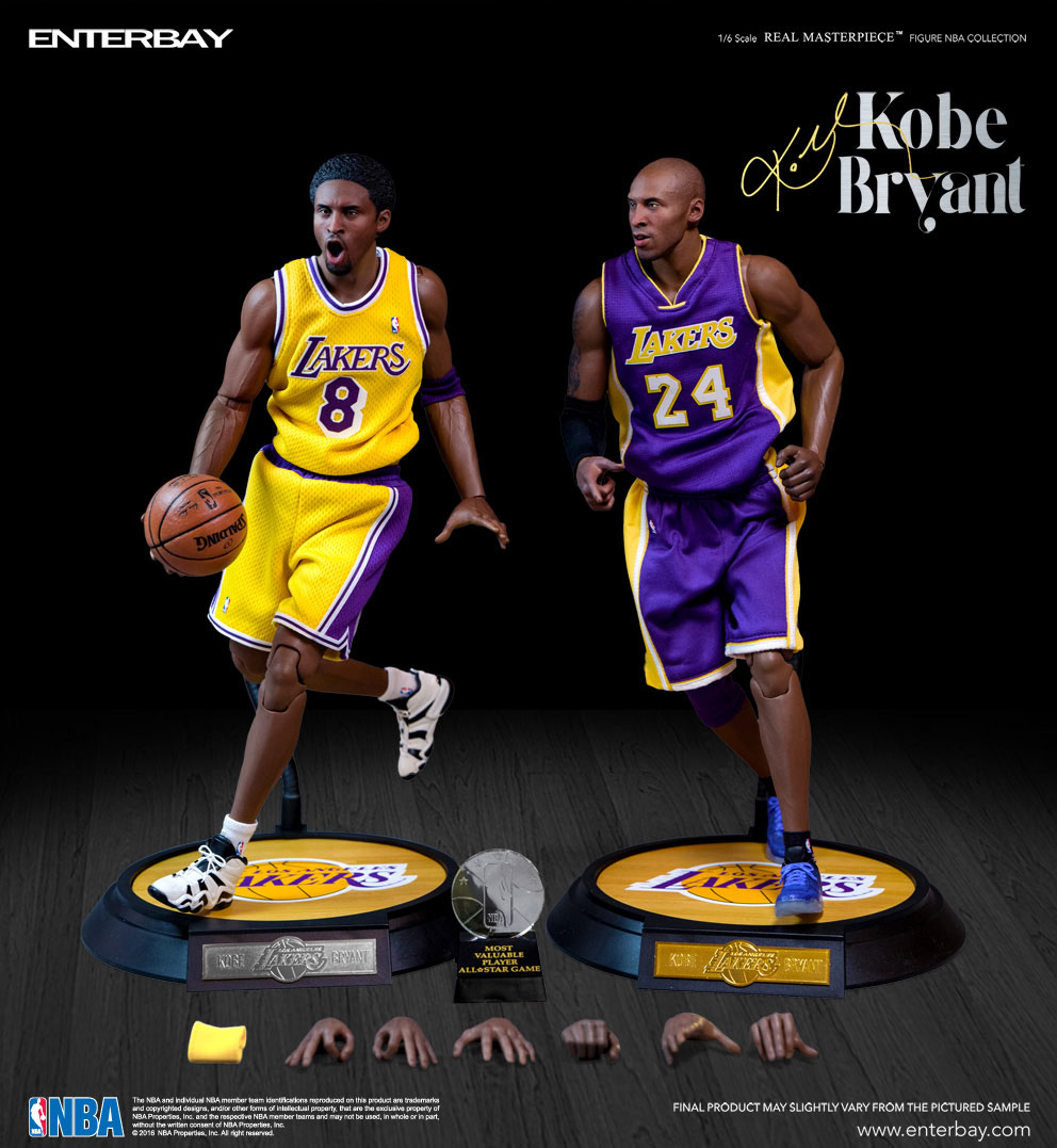 8c438a7f3dd NBA COLLECTION  KOBE BRYANT LIMITED EDITION REAL MASTERPIECE DELUXE SET 1 6  Action Figure ...