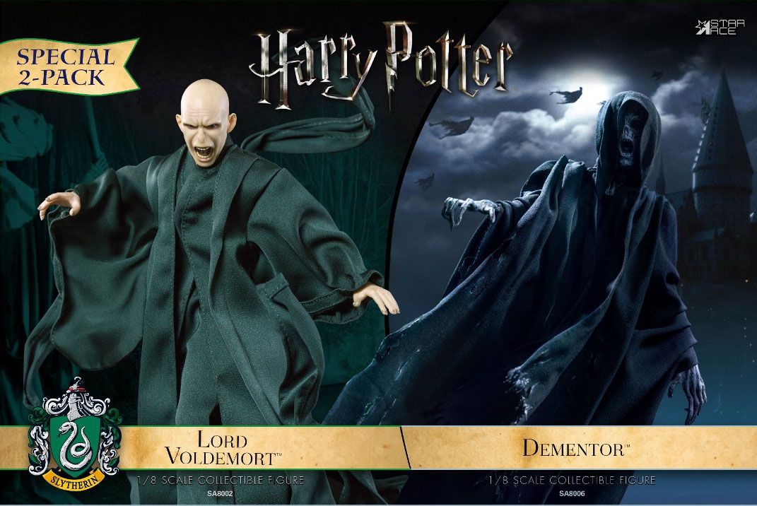 HARRY POTTER: DEMENTOR & LORD VOLDEMORT 2-Pack SET 1/8 Action Figure STAR ACE TOYS