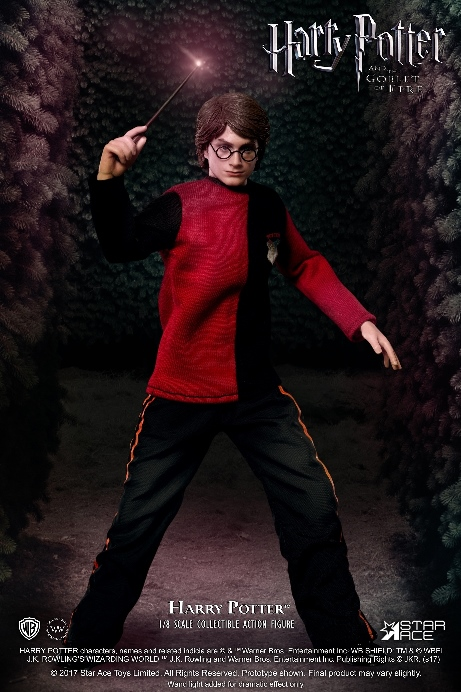 HARRY POTTER: TRIWIZARD TOURNAMENT - HARRY POTTER WAND with FLASH VERSION B 1/8 Action Figure STAR ACE TOYS