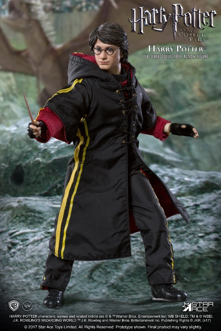 HARRY POTTER: TRIWIZARD TOURNAMENT - HARRY POTTER WAND with FLASH VERSION A 1/8 Action Figure STAR ACE TOYS