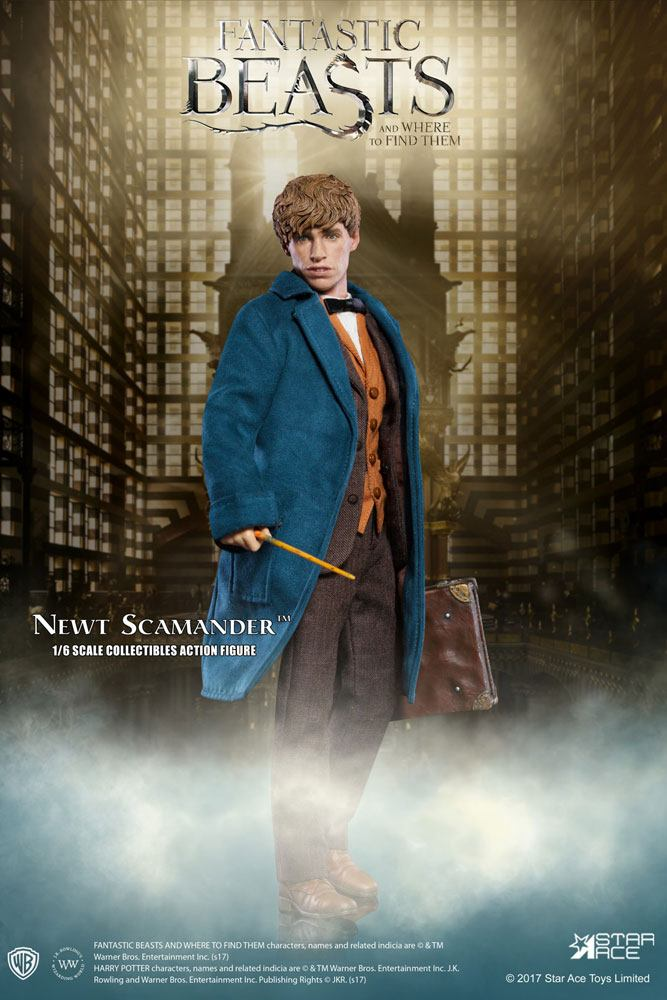 """HARRY POTTER: FANTASTIC BEASTS & WHERE TO FIND THEME - NEWT SCAMANDER with BONNUS 1/6 Action Figure 12"""" STAR ACE TOYS"""