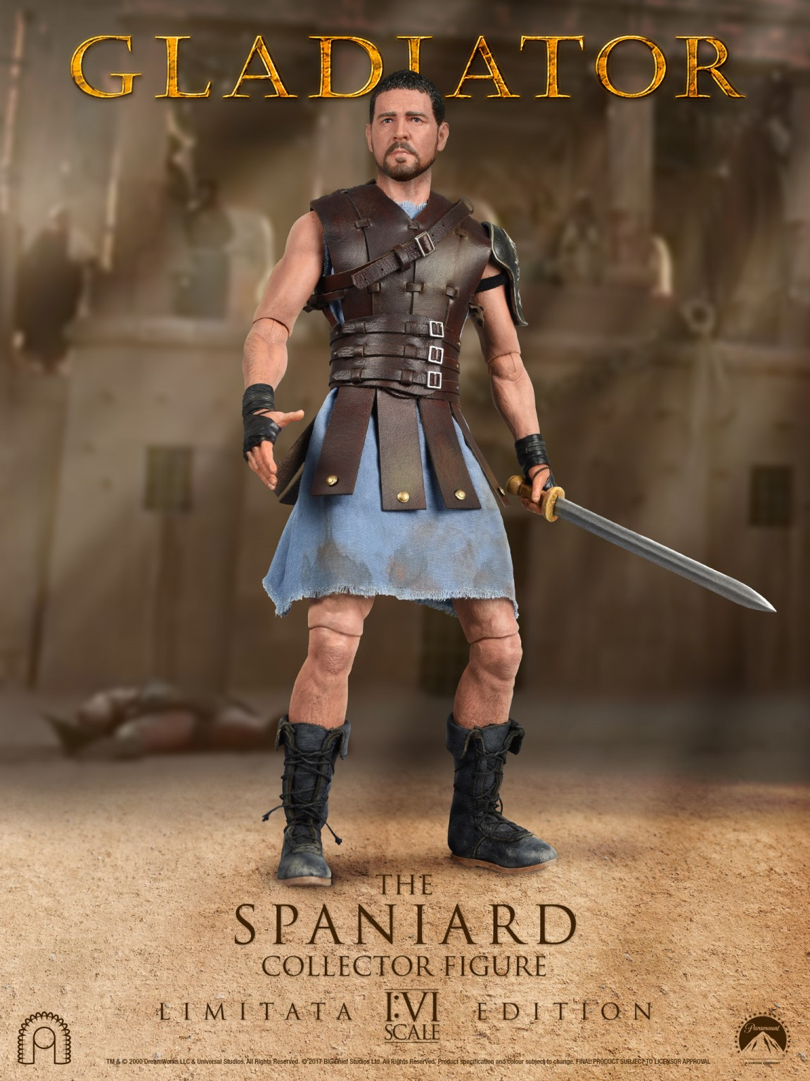 gladiator the spaniard limited edition 1 6 action figure 12 big