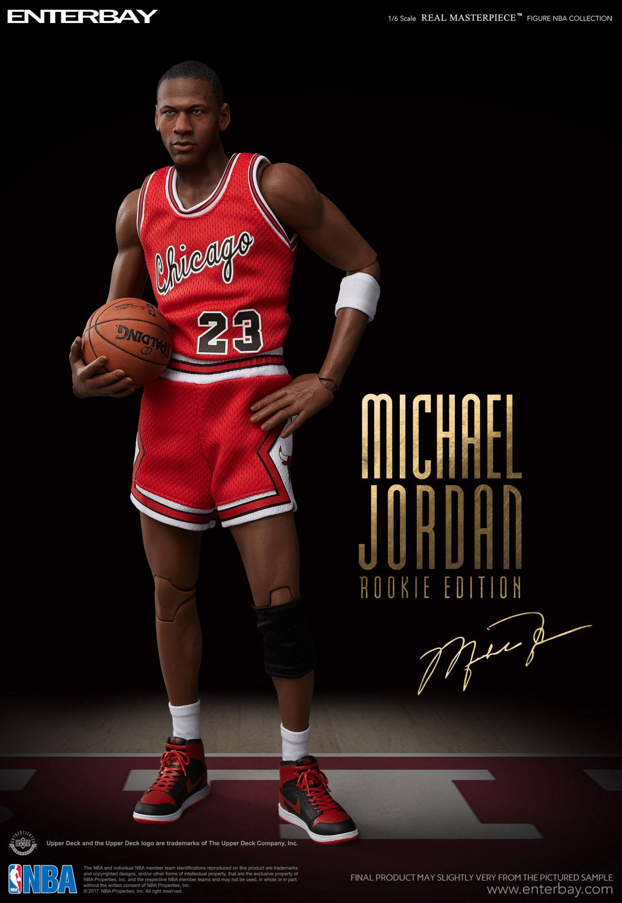 pretty nice 9989e aa179 NBA COLLECTION: MICHAEL JORDAN ROOKIE EDITION (Lim. 3000) 1/6 Action Figure  12″ ENTERBAY