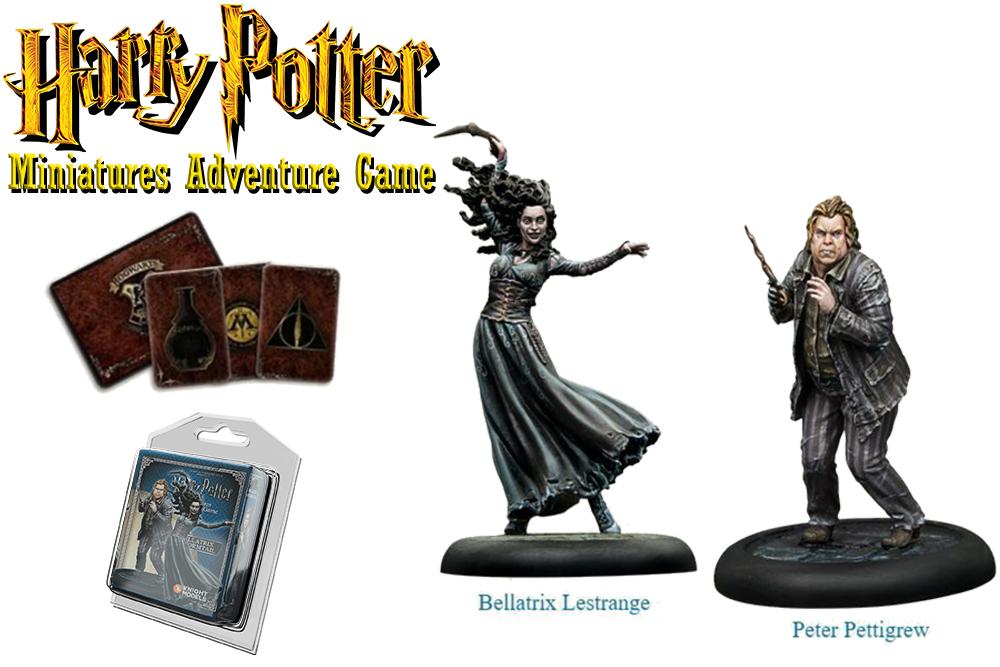 HARRY POTTER: MINIATURES ADVENTURE GAME - Bellatrix Lestrange & Peter Pettigrew Espansione