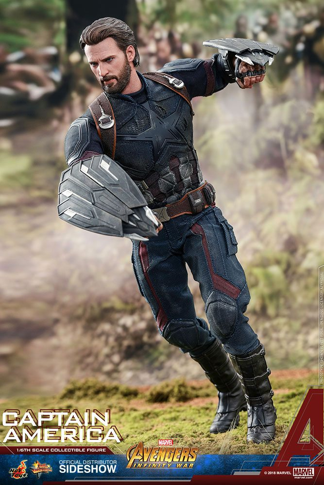 Marvel Avengers Infinity War Captain America 1 6 Action Figure 12 Hot Toys Edicollector