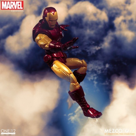 the ONE 12 COLLECTIVE: MARVEL - IRON MAN 1/12 Action Figure MEZCO TOYS