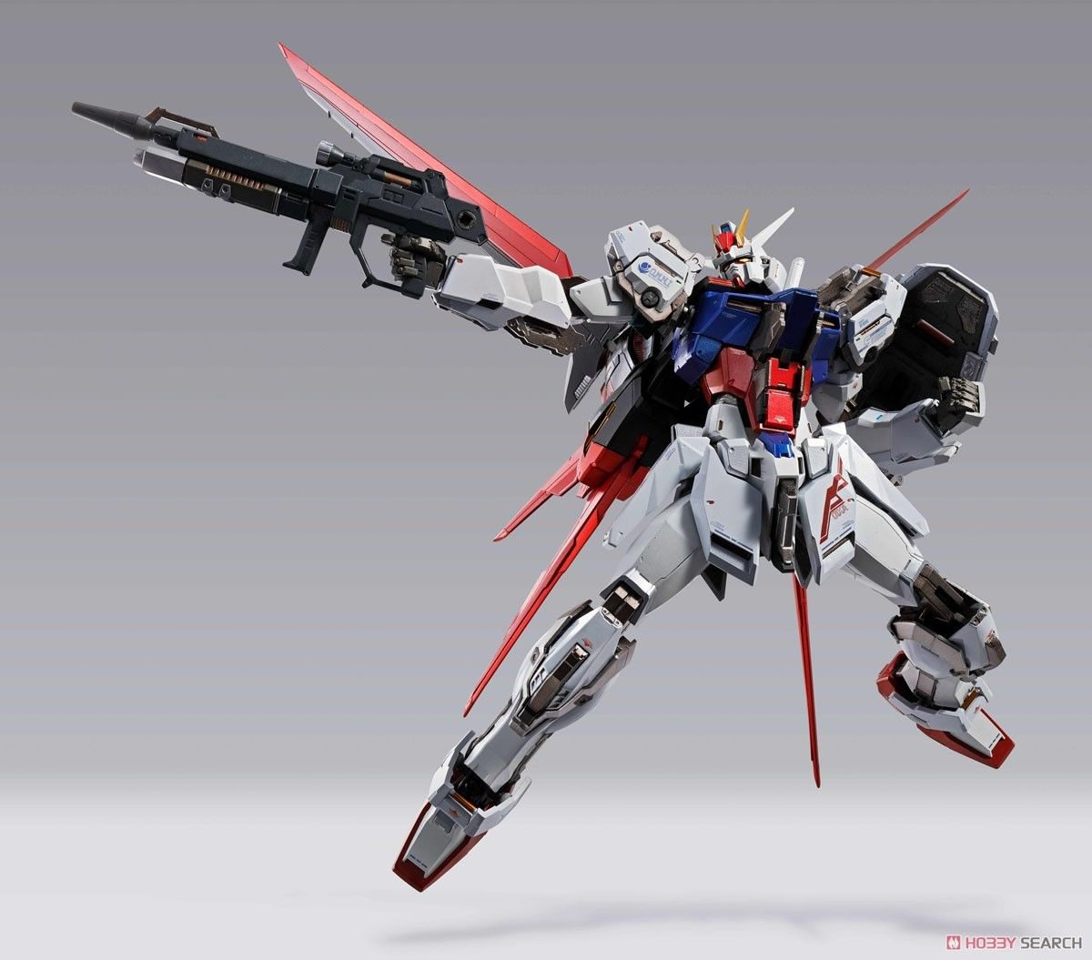 MOBILE SUIT GUNDAM: GUNDAM AILE STRIKE GAT-X105 + AQM/E-X01 METAL BUILD Action Figure BANDAI