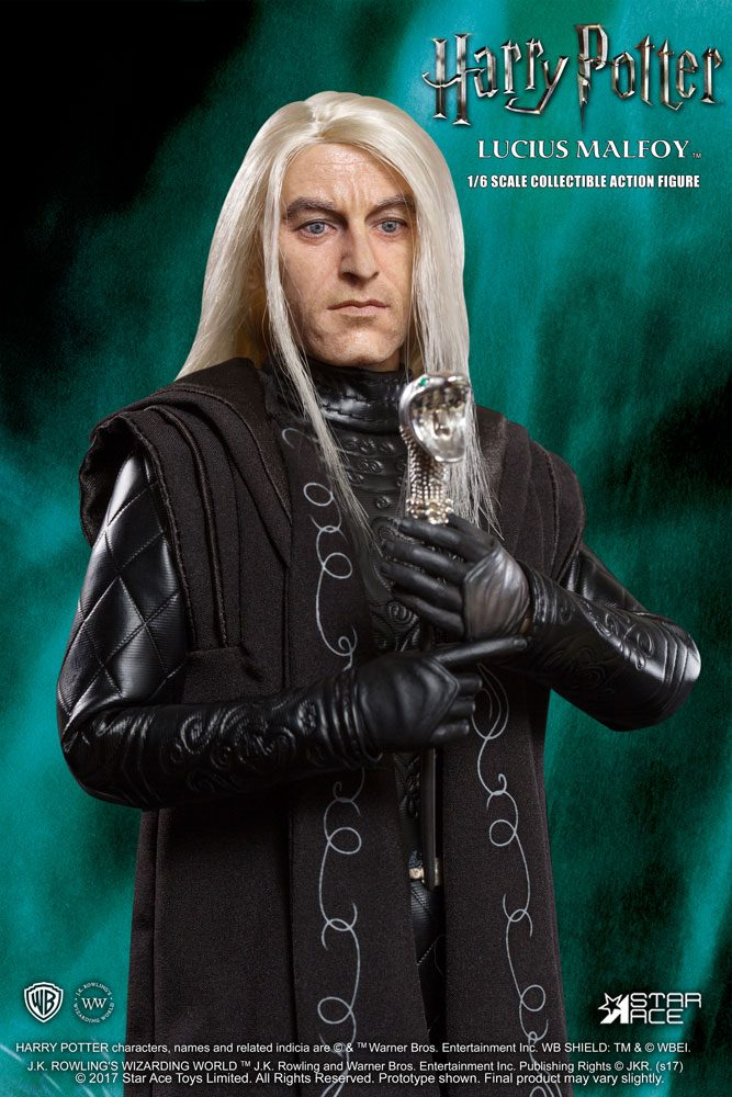 Lucius Malfoy Wand and A Hat, Metal Core Wizard Training